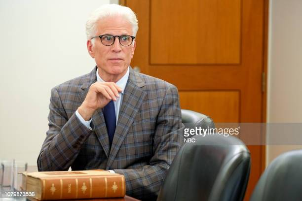 "Chidi Sees the Time-Knife"" Episode 312 -- Pictured: Ted Danson as Michael --"