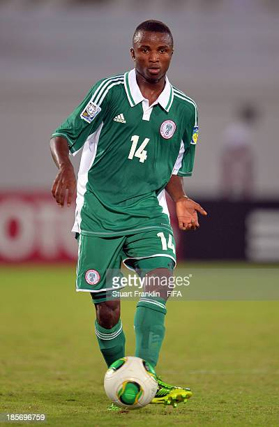 Chidiebere Nwakali of Nigeria in action during the FIFA U17 group F match between Sweden and Nigeria at Khalifa Bin Zayed Stadium on October 22 2013...