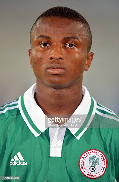 Chidiebere Nwakali of Nigeria looks on during the FIFA U17 group F match between Sweden and Nigeria at Khalifa Bin Zayed Stadium on October 22 2013...