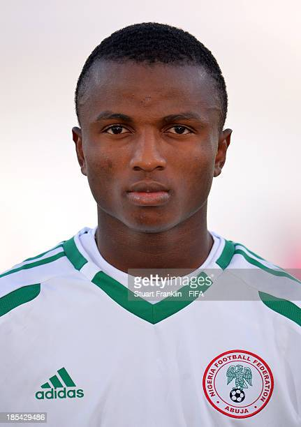 Chidiebere Nwakali of Nigeria looks on during the FIFA U17 World Cup group F match between Mexico and Nigeria at Khalifa Bin Zayed Stadium on October...