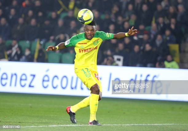 Chidozie Awaziem of FC Nantes during the French Ligue 1 match between FC Nantes and Paris Saint Germain at Stade de la Beaujoire on January 14 2018...