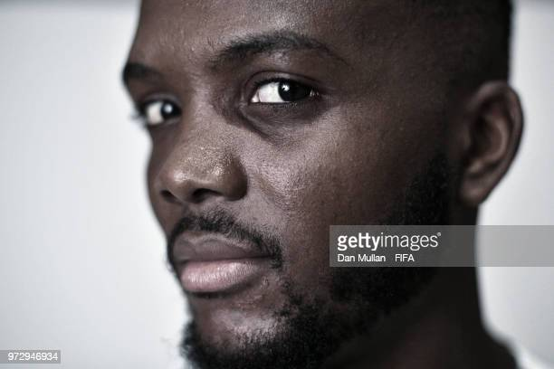 Chidozie Awaziem of Nigeria poses for a portrait during the official FIFA World Cup 2018 portrait session on June 12, 2018 in Yessentuki, Russia.
