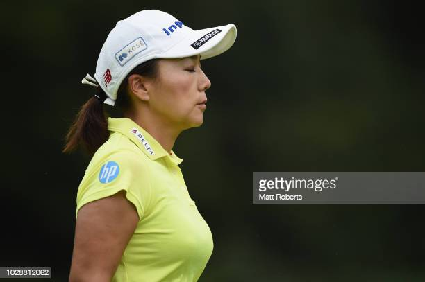 Chie Arimura of Japan during the second round of the 2018 LPGA Championship Konica Minolta Cup at Kosugi Country Club on September 7 2018 in Imizu...