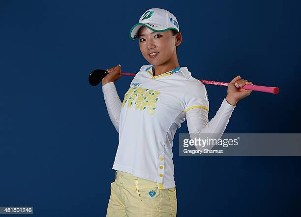 Chie Arimura of Japan poses for a portrait prior to the Meijer LPGA Classic presented by Kraft at Blythefield Country Club on July 21 2015 in Grand...
