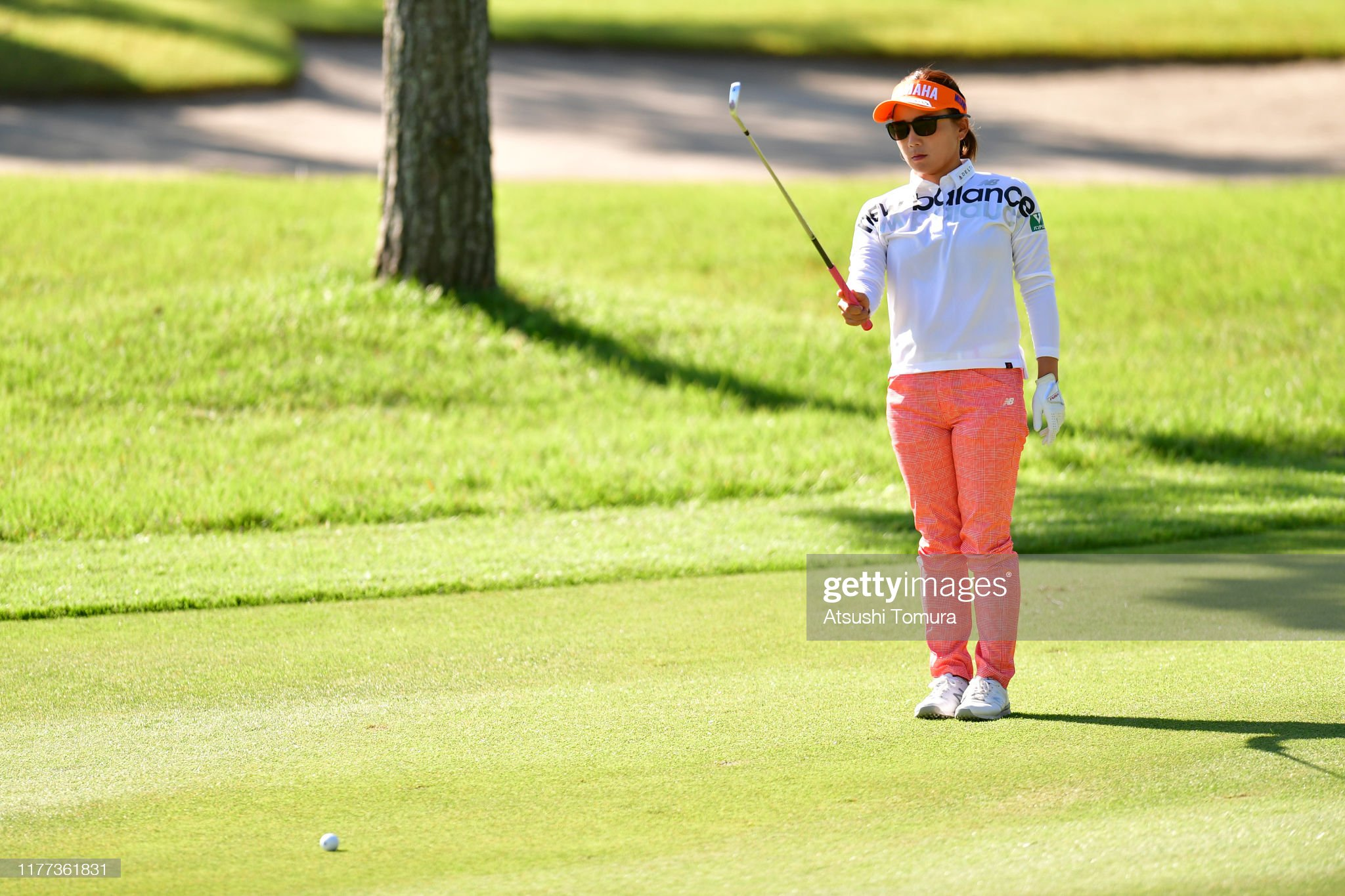 https://media.gettyimages.com/photos/chie-arimura-of-japan-prepares-for-her-second-shot-on-the-1st-hole-picture-id1177361831?s=2048x2048