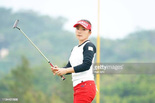 Chie Arimura of Japan putts on the 7th green during the second round of the Daikin Orchid Ladies Golf Tournament at Ryukyu Golf Club on March 08 2019...