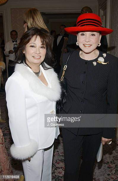 Chie Imai and Cindy Adams during Chie Imai Chie Chic Fashion Show to Benefit the Christopher Reeve Paralysis Foundation Front Row and Cocktail...