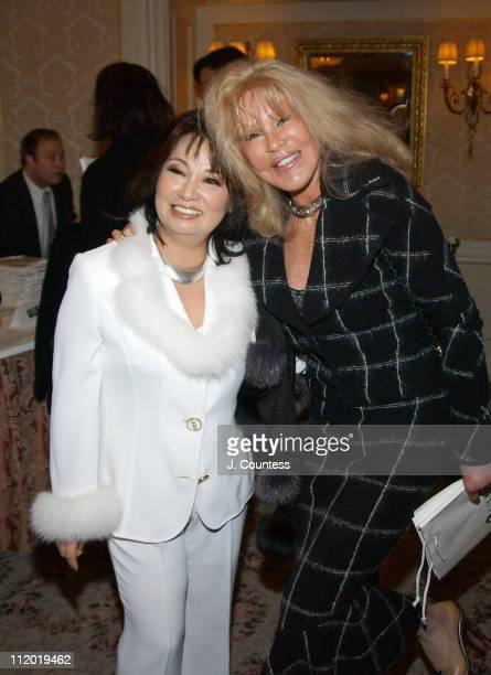 Chie Imai and Jocelyne Wildenstein during Chie Imai Chie Chic Fashion Show to Benefit the Christopher Reeve Paralysis Foundation Front Row and...
