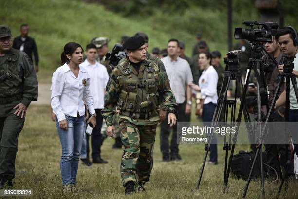Chief Admiral Remigio Ceballos Ichaso commander of the strategic command operations of the Bolivarian National Armed Forces center arrives to speak...