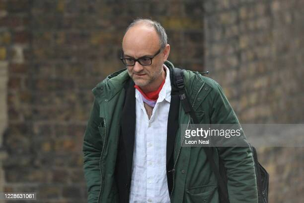 Chief Adviser to the Prime Minister Dominic Cummings arrives at Downing Street on September 21 2020 in London England On Sunday the country reported...