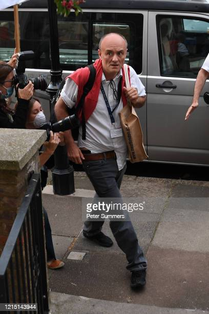 Chief Advisor to Prime Minister Boris Johnson Dominic Cummings returns home after making a statement inside 10 Downing Street on May 25 2020 in...