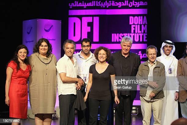 DFI Chief Arab Programmer Hania Mroe Jurer Azize Tan Jurer Hakim Belabbes Namir Abdel Messeeh of 'The Virgin The Copts and Me' Rania Stephan of 'The...