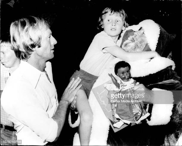 Chief Barker of the Club Paul Hogan and Santa Claus with Kylie Stewart at the partyThe Variety Club of Australia today held one of the biggest...