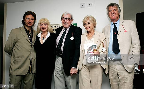 Chief Barker of the Variety Club Russ Kane actors Faith Brown Eric Sykes and Liz Fraser and TV and radio presenter Ed Stewart attend the 49th Variety...