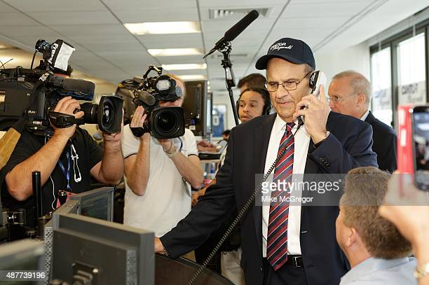 Chief Baseball Officer Joe Torre participates in the annual Charity Day hosted by Cantor Fitzgerald and BGC at Cantor Fitzgerald on September 11 2015...