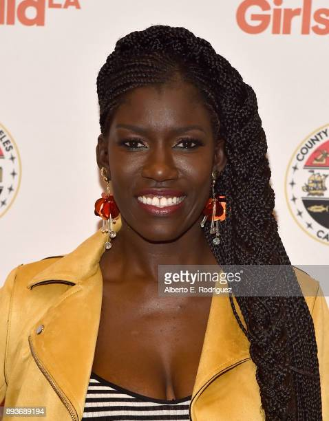 Chief Brand Officer for Uber Bozoma Saint John attends the LA Promise Fund's 'Girls Build Leadership Summit' at The Los Angeles Convention Center on...