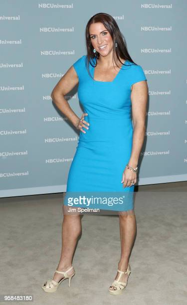 Chief brand officer of WWE Stephanie McMahon attends the 2018 NBCUniversal Upfront presentation at Rockefeller Center on May 14 2018 in New York City