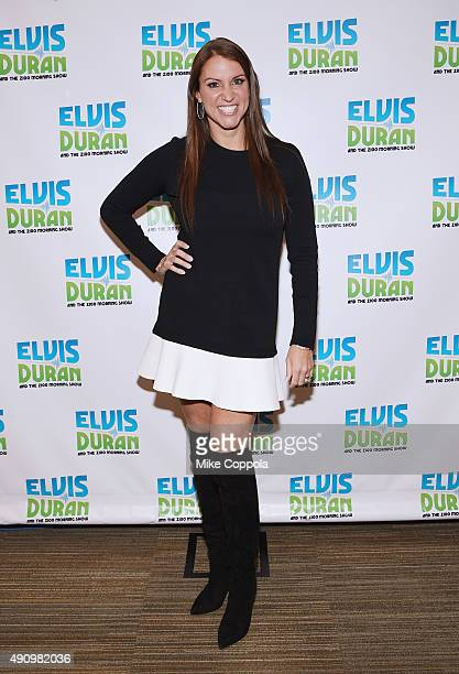 Chief Brand Officer of WWE Stephanie McMahon visits The Elvis Duran Z100 Morning Show at Z100 Studio on October 2 2015 in New York City