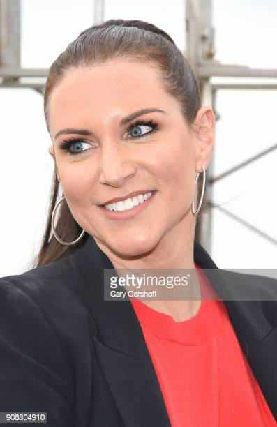 Chief Brand Officer Stephanie McMahon attends the celebration of the 25th anniversay of Monday Night Raw at The Empire State Building on January 22...