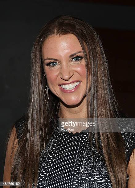 Chief Brand Officer Stephanie McMahon attends the Make-A-Wish celebration event for John Cena's 500th Wish Granting Milestone at Dave & Buster's Time...