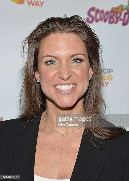Chief Brand Officer Stephanie McMahon attends the 'Scooby Doo WrestleMania Mystery' New York Premiere at Tribeca Cinemas on March 22 2014 in New York...