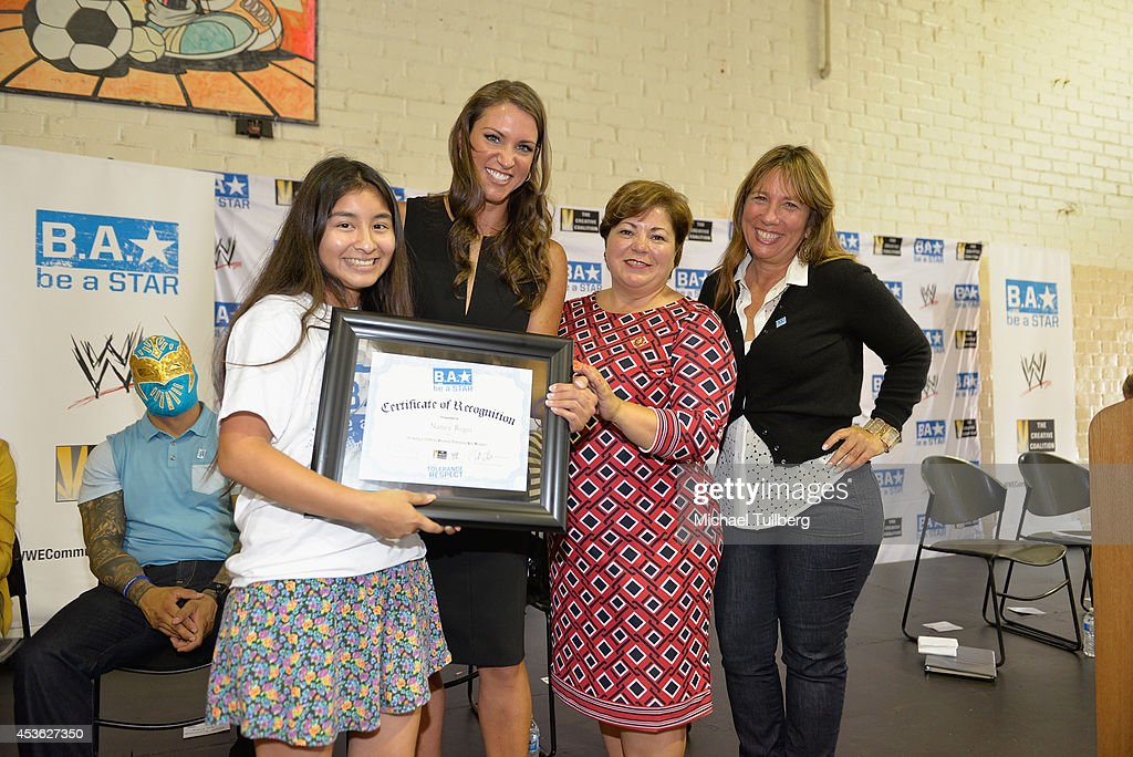 The Creative Coalition & WWE Host Be A STAR Anti-bullying Rally For 200 Students At Boys & Girls Club Of East Los Angeles