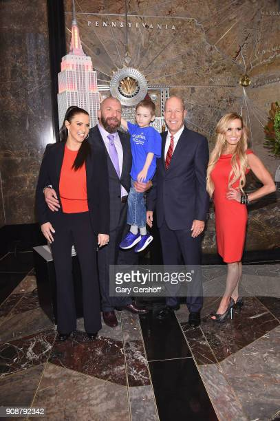 WWE Chief Brand Officer Stephanie McMahon WWE Champion and Executive Vice President of Talent Live Events and Creative Paul 'Triple H' Levesque...