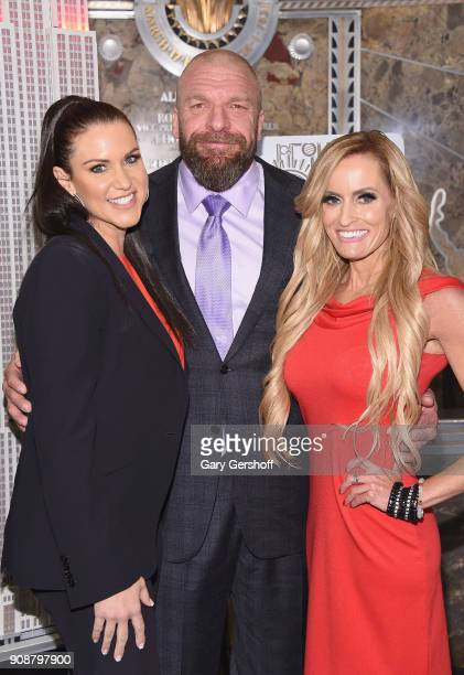 WWE Chief Brand Officer Stephanie McMahon WWE Champion and Executive Vice President of Talent Live Events and Creative Paul 'Triple H' Levesque and...