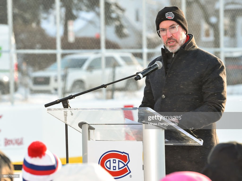 Outdoor Rink Unveiled By NHL, NHLPA & Montreal Canadiens