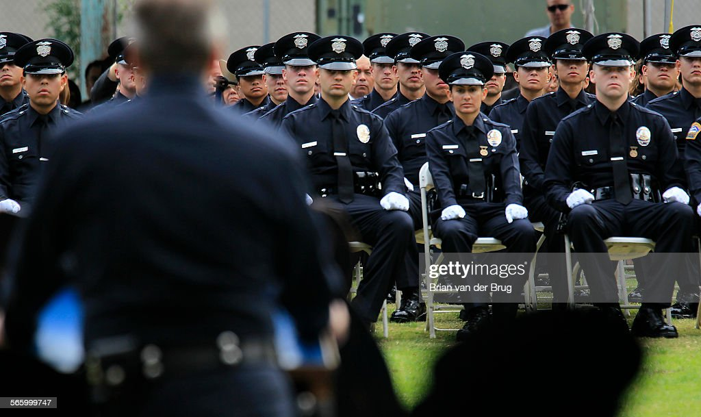 LAPD chief Charlie Beck addresses the recruit officer class