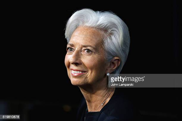 Chief Christine Lagarde Visits Fox Business Network at FOX Studios on April 8 2016 in New York City