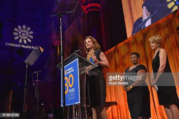 Chief Communications Officer Guardian Life Insurance Sherry Pudloski accepts the Corporate Award onstage during the Children's Health Fund 2018...