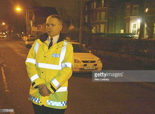Chief Constable Michael Todd stands outside the apartment where a police officer was stabbed to death during the arrest of three terror suspects in a...