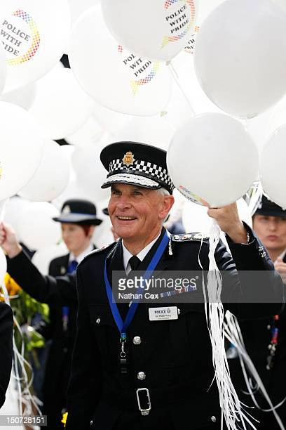 Chief Constable of Greater Manchester Police Sir Peter Fahy attends Manchester Pride 2012 on August 24 2012 in Manchester England