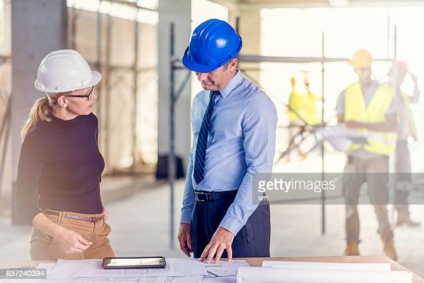 Chief constructor and female architect
