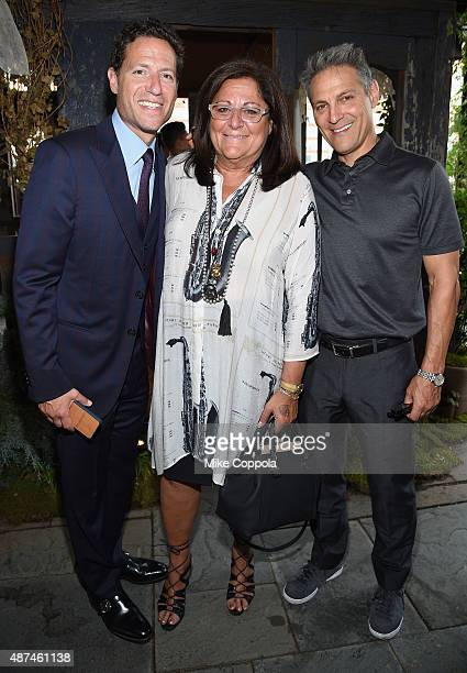 Chief Content Officer at IMG Mark Shapiro Fern Mallis and talent agent Ari Emanuel attend the 'NYFW The Shows' #fashionflock event hosted by Twitter...