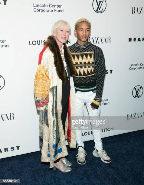 Chief Content Officer for Hearst Magazines Joanna Coles and actor/singer Jaden Smith attend an evening honoring Louis Vuitton and Nicolas Ghesquiere...