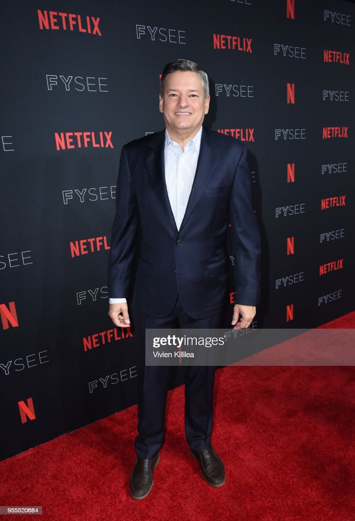 Chief Content Officer for Netflix Ted Sarandos attends the Netflix FYSee Kick Off Party at Raleigh Studios on May 6, 2018 in Los Angeles, California.