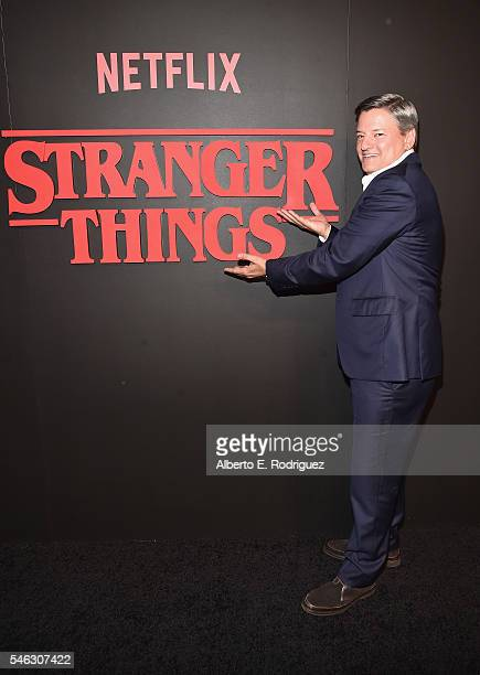 Chief Content Officer for Netflix Ted Sarandos attends the Premiere of Netflix's 'Stranger Things' at Mack Sennett Studios on July 11 2016 in Los...