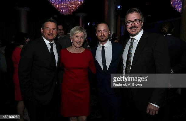 Chief Content Officer of Netflix Ted Sarandos Holly Rice actor Aaron Paul and writer/producer Vince Gilligan attend the 30th Annual Television...