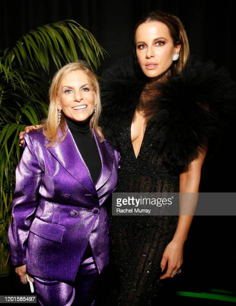 Chief Content Officer of Spotify Dawn Ostroff and Kate Beckinsale attend Spotify Hosts Best New Artist Party at The Lot Studios on January 23 2020 in...