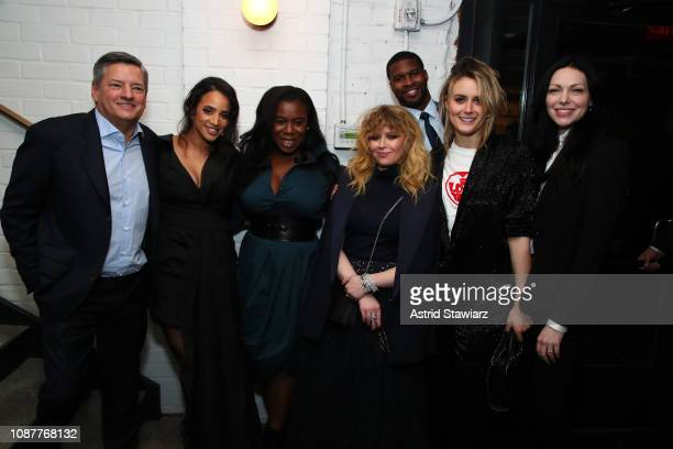 Chief Content Officer Ted Sarandos Netflix Dascha Polanco Uzo Aduba Natasha Lyonne Branden Wellington Taylor Schilling and Laura Prepon attend...