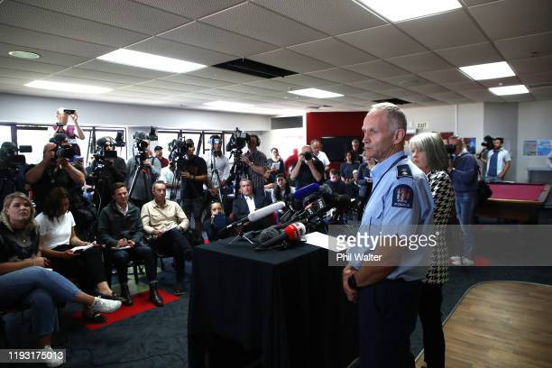 Chief Coroner Judge Deborah Marshall and Acting Assistant Commissioner Bruce Birdon speak to media at the Whakatane District Countil on December 11...