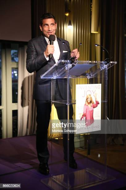 EVP Chief Corporate Content Licensing Officer CBS Scott Koondel speaks on stage as inventor and entrepreneur Joy Mangano celebrates the release of...