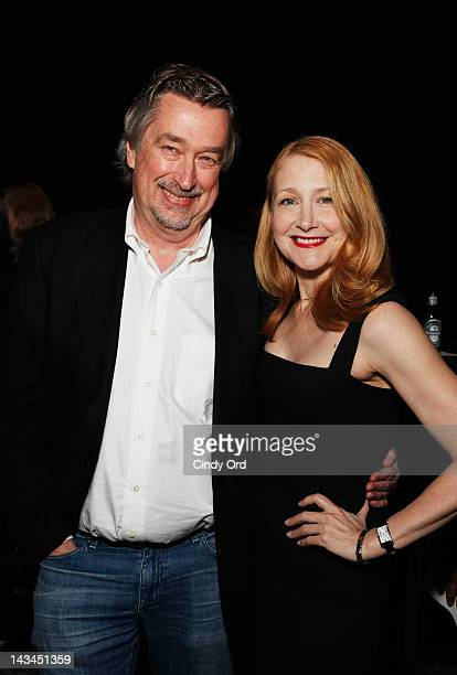 Chief Creative Officer for Tribeca Enterprises Geoffrey Gilmore and Patricia Clarkson attend the 2012 TFF Awards during the 2012 Tribeca Film...