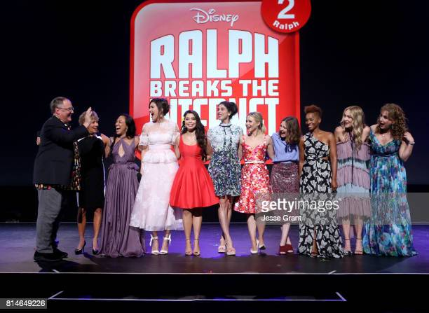 Chief Creative Officer of Pixar and Walt Disney Animation Studios John Lasseter actors Paige O'Hara Irene Bedard Mandy Moore Auli'i Cravalho Sarah...