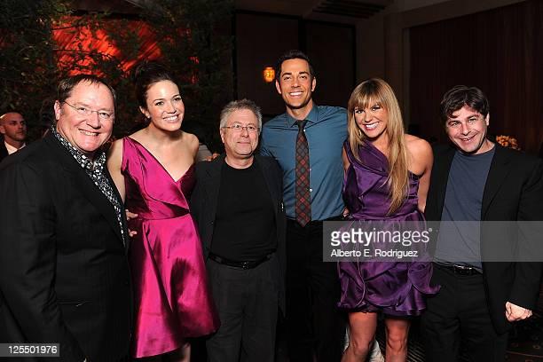 Chief Creative Officer of Pixar John Lasseter actress Mandy Moore composer Alan Menken actor Zachary Levi singer Grace Potter and lyricist Glenn...