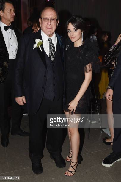 Chief Creative Officer of Sony Music Clive Davis and recording artist Camila Cabello attend the Sony Music Entertainment 2018 PostGrammy Reception on...