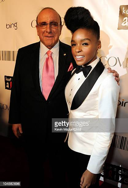 Chief Creative Officer of Sony Music Entertainment Worldwide Clive Davis and Janelle Monae attends Keep A Child Alive's 7th annual Black Ball at...