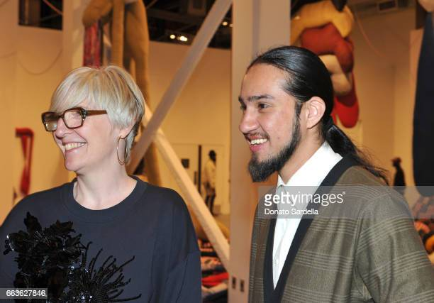 MOCA Chief Curator Helen Molesworth and Bobby Jesus attend MOCA's Leadership Circle and Members' Opening of 'Carl Andre Sculpture as Place 19582010'...